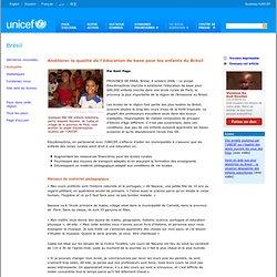 Brésil - Améliorer la qualité de l'éducation de base pour les enfants du Brésil