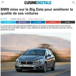 BMW mise sur le Big Data pour améliorer la qualité de ses voitures