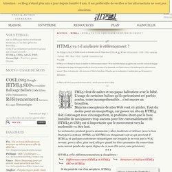 HTML5 va t-il améliorer le référencement ? - HTML5 - HTML5/CSS3