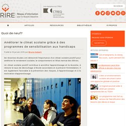 Améliorer le climat scolaire grâce à la sensibilisation
