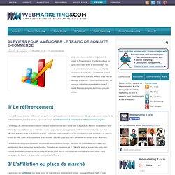 5 leviers pour améliorer le trafic de son site e-commerce