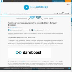 Améliorez vos sites avec une analyse complète à l'aide de l'outil Dareboost