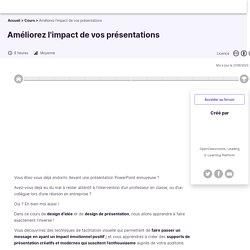 Améliorez l'impact de vos présentations