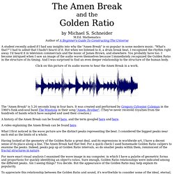 """The """"Amen Break"""" and Golden Proportion"""