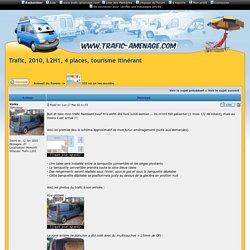 Trafic, 2010, L2H1, 4 places, tourisme itinérant