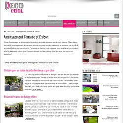 Amenagement Terrasse et Balcon - Idee Decoration Exterieur