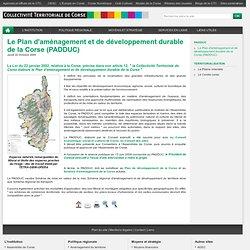 Le Plan d'aménagement et de développement durable de la Corse (P