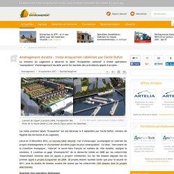 Aménagement durable : treize écoquartiers labellisés par Cécile Duflot