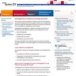 Aménagement et réduction du temps de travail>Entreprises>Emploi-Québec