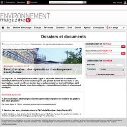 Dossier : Eaux pluviales : des opérations d'aménagement exemplaires – Environnement-magazine.fr