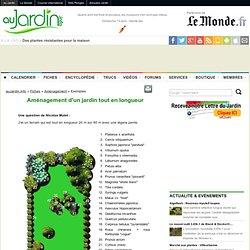 Aménagement d'un jardin tout en longueur