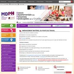 Aménagement matériel du poste de travail - mdph33 :