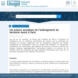 Les acteurs européens de l'aménagement du territoire réunis à Paris - France et UE-Toute l'Europe