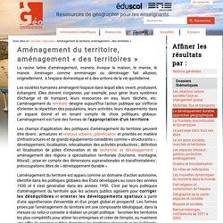 amenagement-du-territoire#:~:text=Aménagement du territoire français,-Le concept d&text=L'objectif principal des politiques,une direction du même nom