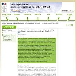 Atelier Aménagement Numérique des Territoires - Le point sur... L'aménagement numérique dans les SCoT