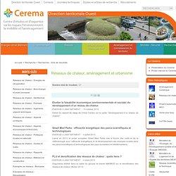 CETE Ouest - Réseaux de chaleur et urbanisme