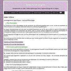 Aider l'élève Dyslexique : Aménagements spécifiques - Lecture/Phonologie