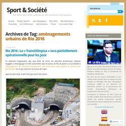 aménagements urbains de Rio 2016