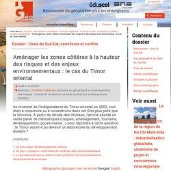 Aménager les zones côtières à la hauteur des risques et des enjeux environnementaux : le cas du Timor oriental