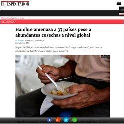 Hambre amenaza a 37 países pese a abundantes cosechas a nivel global