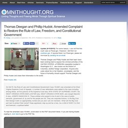 Thomas Deegan: Amended Complaint To Restore Freedom