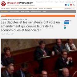 Les députés et les sénateurs ont voté un amendement qui couvre leurs délits économiques et financiers!