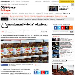 """Un """"amendement Nutella"""" adopté au Sénat"""