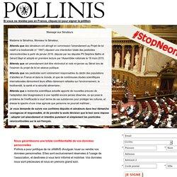 Amendement StopNeonics – Message aux sénateurs