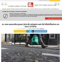 21 000 amendes pour jets de mégots ont été distribuées en 2017 à Paris