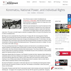 Korematsu, National Power, and Individual Rights
