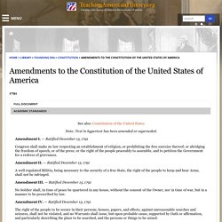 Amendments to the Constitution of the United States of America