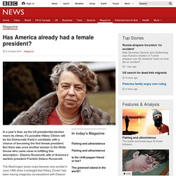 Has America already had a female president? - BBC News