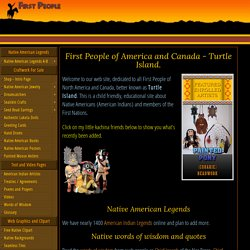 First People of America and Canada - Native American Indians. Turtle Island. Legends, Treaties, Clipart.