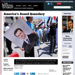 America's Assad Quandary