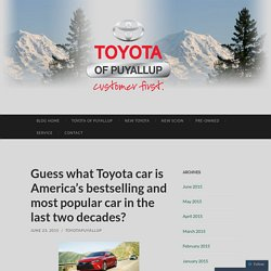 Guess what Toyota car is America's bestselling and most popular car in the last two decades?