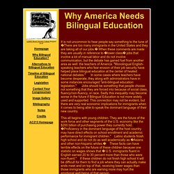 Why America Needs Bilingual Education