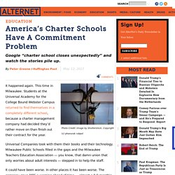 America's Charter Schools Have A Commitment Problem