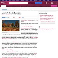 America's Top Colleges 2011 on Shine