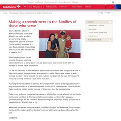 Bank of America - Making a commitment to the families of those who serve