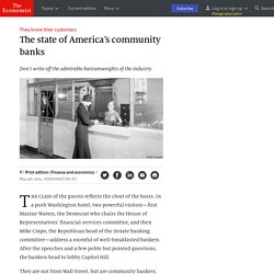 The state of America's community banks - They know their customers