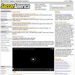 Soccer America - Covering US, International, MLS, College, Youth and World Cup Soccer