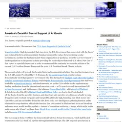 America's Deceitful Secret Support of Al Qaeda