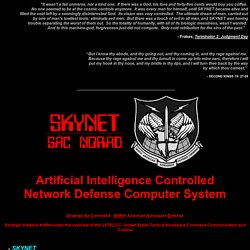 SKYNET- America's first neural net defense network super computer