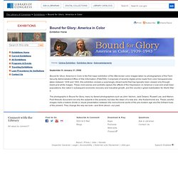 Online Exhibition - Bound for Glory: America in Color, 1939-1943