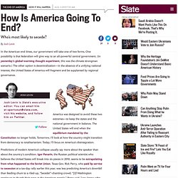 How is America going to end? Who most likely to secede?