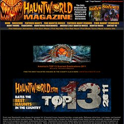 America's Best 13 Haunted Houses ranked by HauntedHouseMagazine.com