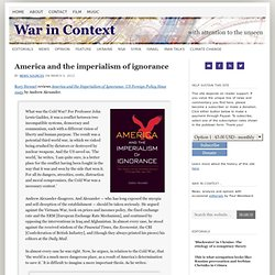 America and the imperialism of ignorance
