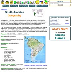 South America - flags, maps, industries, culture of South America