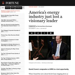 America's energy industry just lost a visionary leader