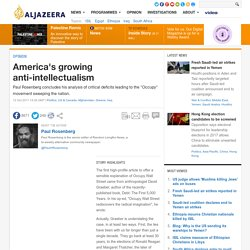 America's growing anti-intellectualism